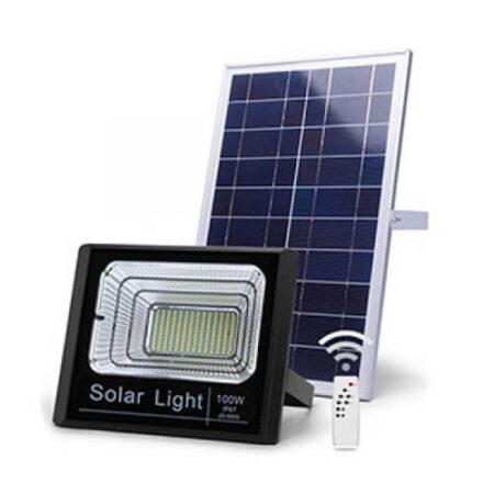 Reflector led con panel solar de 100w