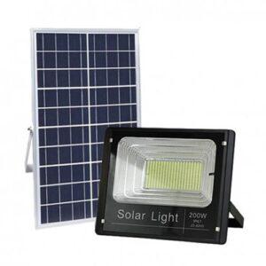 Reflector led con panel solar de 200w